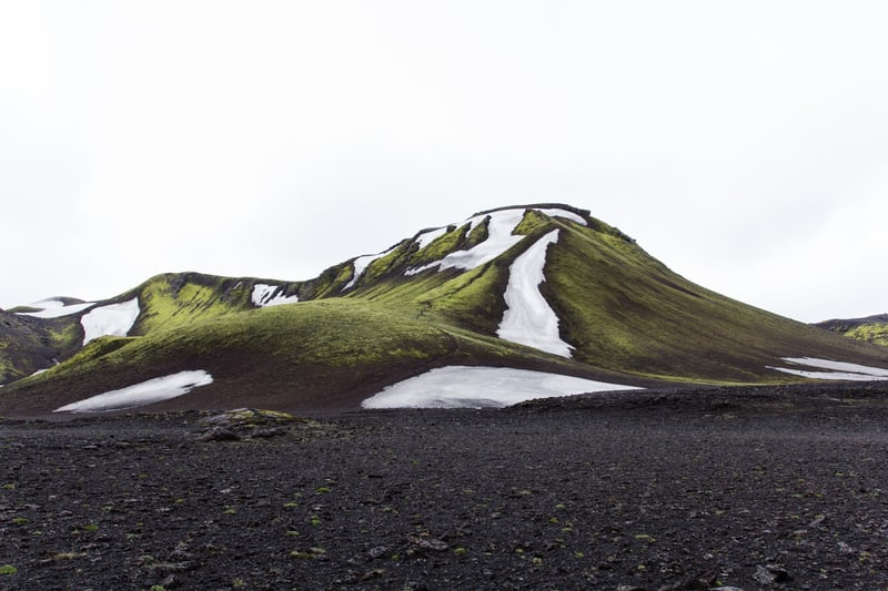 A mountain in the Icelandic Highlands easily accessible for remote workers