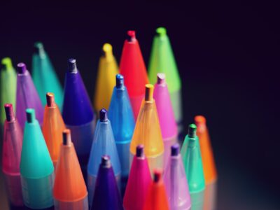A series of colourful pens symbolising diversity in the workplace