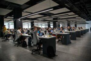 An urban office environment