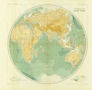 A on map of the world