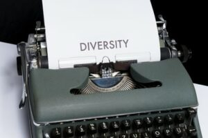 Diversity typed out on a typewriter