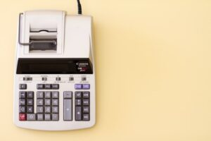 A tax tabulating calculator