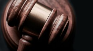 A close up of a gavel