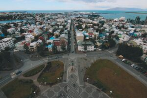 Reykjavik from the top of Hallgrimskirkja viewing platform