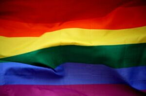 The Pride flag symbolising diversity and inclusion